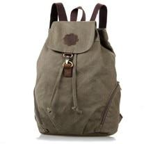 Небольшой Новый Холст и Кожаный Рюкзак Женщины Школьный 9008N