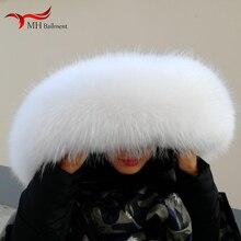 Настоящий натуральный енотовый меховой воротник, Женская бандана, женский шарф, модное пальто, свитер, пальто с капюшоном, женские шейные шарфы M6