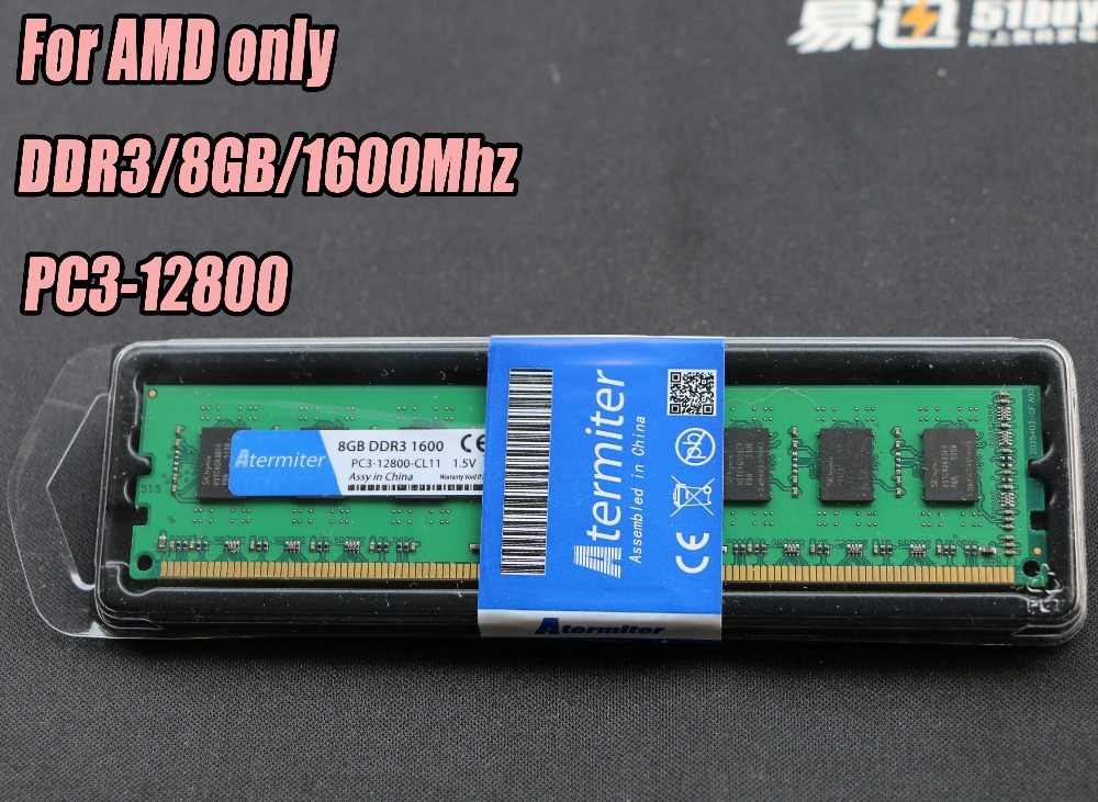 Nuovo 8 GB DDR3 PC3-12800 1600 MHz Per Desktop PC DIMM di Memoria RAM 240 pin Per AMD intel Sistema 1866 mhz 1866 radiatore 4 GB 8G 4G 16 GB