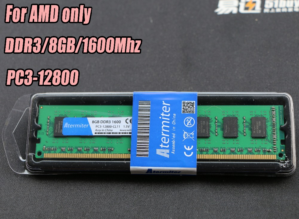 New 8GB DDR3 PC3-12800 1600MHz For Desktop PC DIMM Memory RAM 240 pins For AMD System High Compatible jzl memoria pc3 10600 ddr3 1333mhz pc3 10600 ddr 3 1333 mhz 8gb lc9 240 pin desktop pc computer dimm memory ram for amd cpu