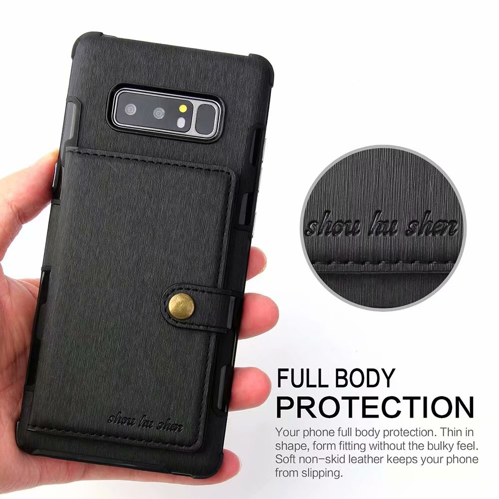 Retro Card Holder Back Cover PU Leather Wallet Case For Samsung Galaxy S20 Ultra