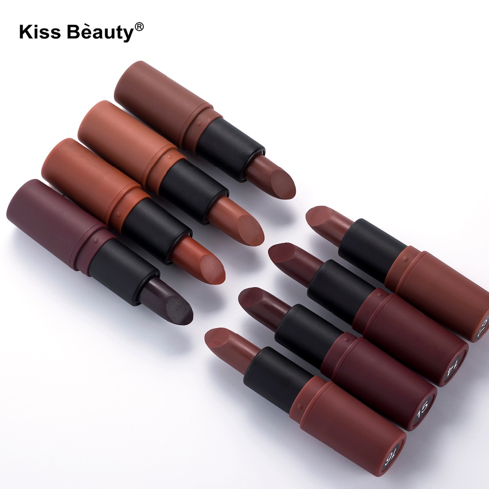 8pcs matte lipstick lips makeup beauty cosmetics Long-lasting lipstick mate lip stick batom brand kiss 12pcs set lip kit matte velvet lipstick long lasting nutritious lip sticks lip balm lips makeup batom cosmetic hengfang
