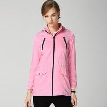 2018 autumn thin hooded Trench coat women casual loose zipper windbreaker coat D341