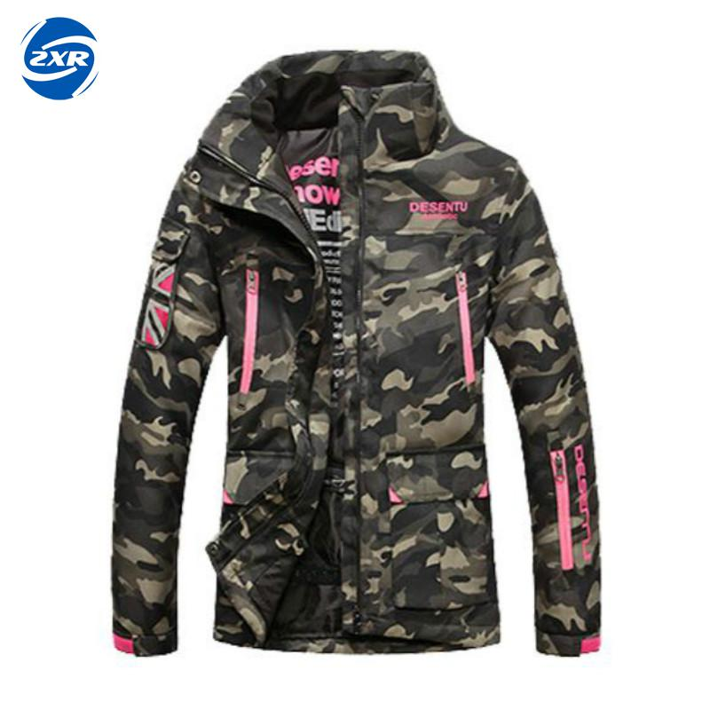 Zuoxiangru Women Windproof Waterproof Ski Camo Jackets Winter Warm Outdoor Sport Snow Skiing Female Hiking Coats