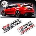 LA racing-Fit for Honda badge car metal wing Spoiler emblem mugen badge Car styling for honda civic fit jazz