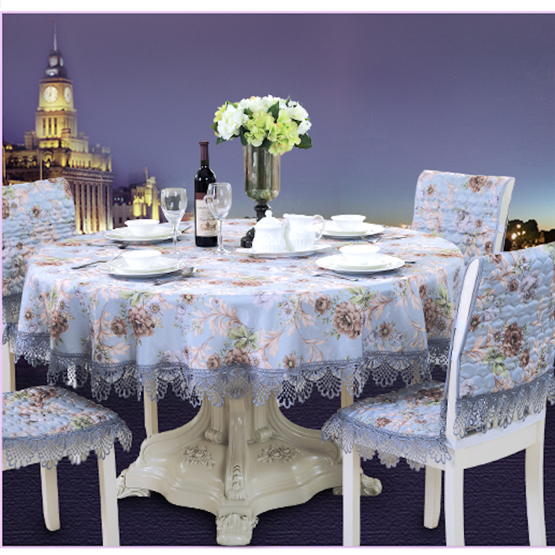Awesome Us 12 9 65 220Cm X 65 230Cm Table Cloth Square Rectangle Round Tablecloth Tv Cover Lace Chair Decorative Set Blue 17 Sizes In Tablecloths From Home Machost Co Dining Chair Design Ideas Machostcouk