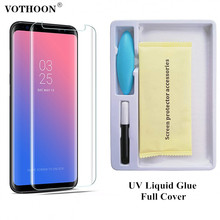 ФОТО vothoon full cover glass for samsung galaxy s8 s9 plus note 8 s7 edge 3d liquid full adhesive tempered glass screen protector