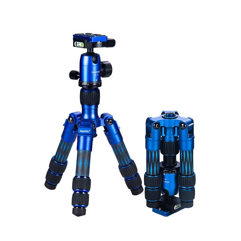 Manbily DT-01C Mini Table de Carbone Fibre Trépied Parfaitement pour Mirroless Téléphone Portable, Gorpo Compact Caméra tir Facile à Transporter