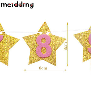 Image 5 - Meiddingベビー誕生日 12 ヶ月写真ホオジロベビーシャワー紙花輪少年少女 1st誕生日パーティーの装飾用品