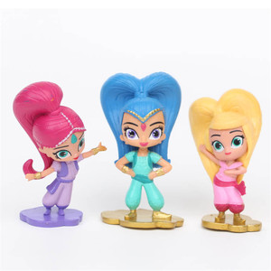 Image 5 - 12Pcs/Set Shimmer Sister Action Figure Toys Samira Pet Tiger Nahal Monkey Dragon Dolls Toys Cute Shine Girl Christmas gift 7CM