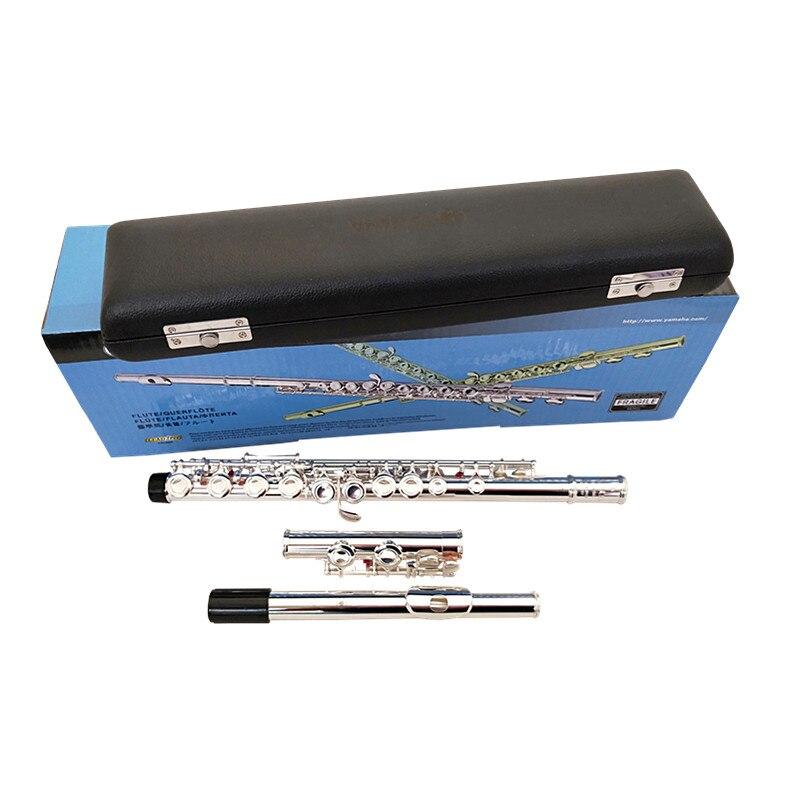 2018 Nouvelle arrivée flûte YFL211SL Jouer de la musique instrument 16 Fermé trou E clé musique C air flûte Cuivre Nickel Livraison gratuite