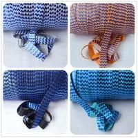 5 kolory niebieski folia chevron chevron fold over elastic FOE elastyczne darmowa wysyłka