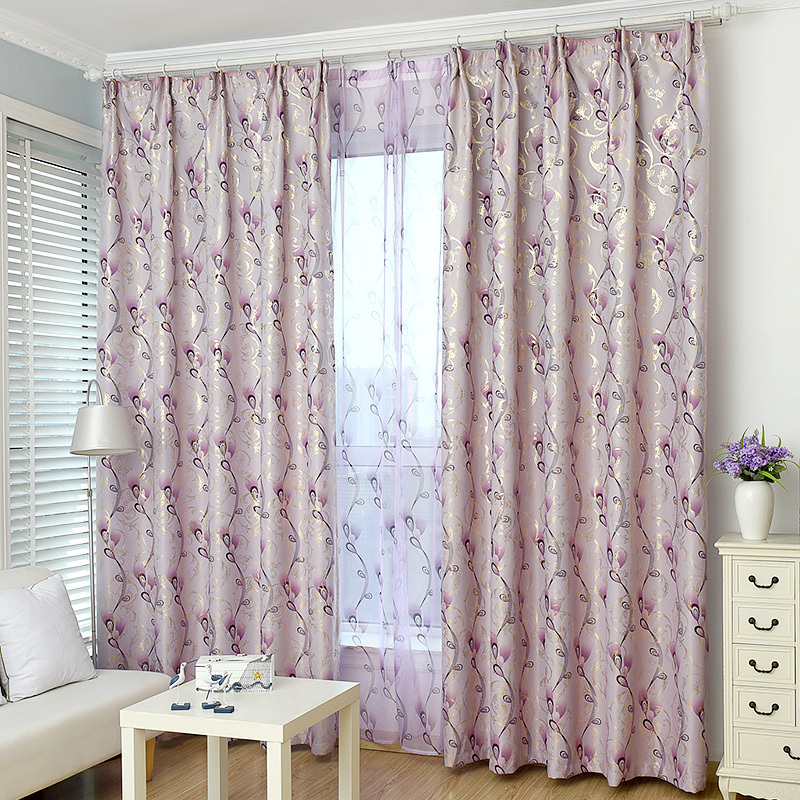 1 Pc Curtain And 1 Pc Tulle Peony Luxury Window Curtains: Online Get Cheap Gray Curtain -Aliexpress.com