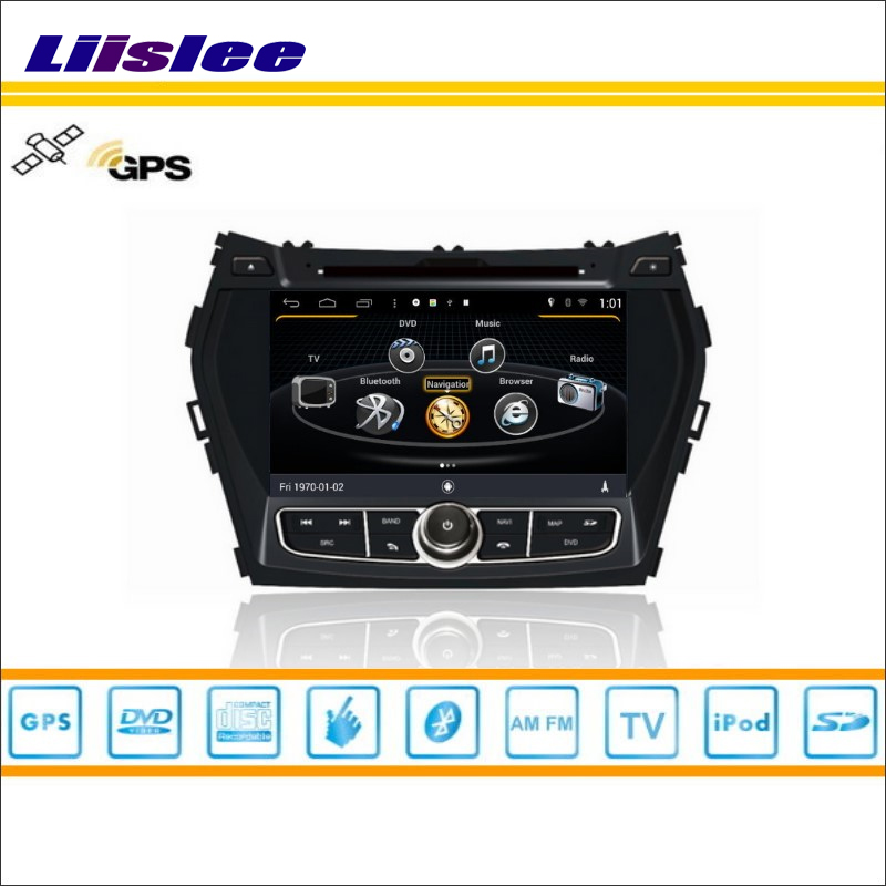 Liislee For Hyundai Santa Fe 2012~2013 Car DVD Player GPS Navi Navigation Radio Stereo CD TV iPod BT HD Screen Multimedia System yessun android car navigation gps for hyundai santa fe 2006 2012 audio video hd touch screen stereo multimedia player no cd dvd
