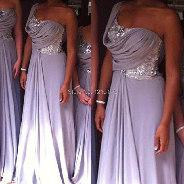 Beach Light Purple Bridesmaid Dresses with Sleeves