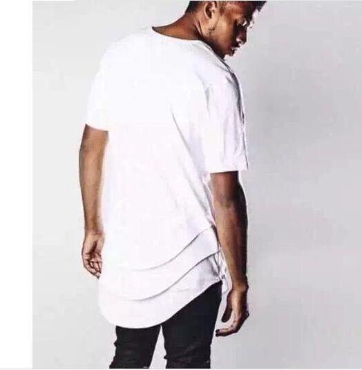 Hip Hop streetwear summer plus size designer side zip white ...