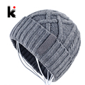 2017 Autumn And Winter brand cross striped cap men's skullies beanie bonnet wool hat knit hats for men beanies chapeau