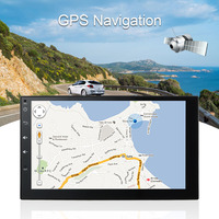 Kkmoon 2 DIN HD Сенсорный экран стерео Радио плеер GPS навигации Мультимедиа Развлечения Системы WIFI BT AM/FM Android 5.1