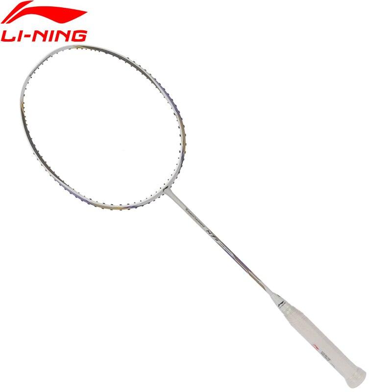 Li Ning 2018 турбонаддувом N7 II Ракетки для бадминтона одной ракетки профессиональное оборудование углерода Волокно Li Ning ракетки aypl202