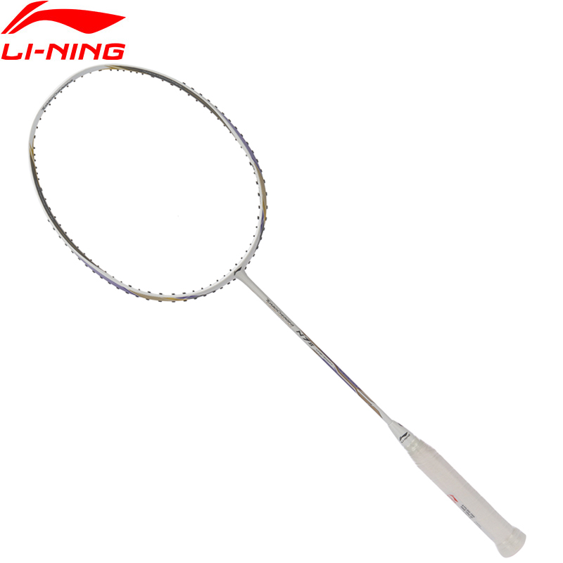 Li-Ning 2018 Turbo Charging N7 II Badminton Rackets Single Racket Professional Equipment Carbon Fiber Li Ning Rackets AYPL202 li ning u sonic 17 badminton rackets single carbon fiber professional lining rackets aypm226 zyf214