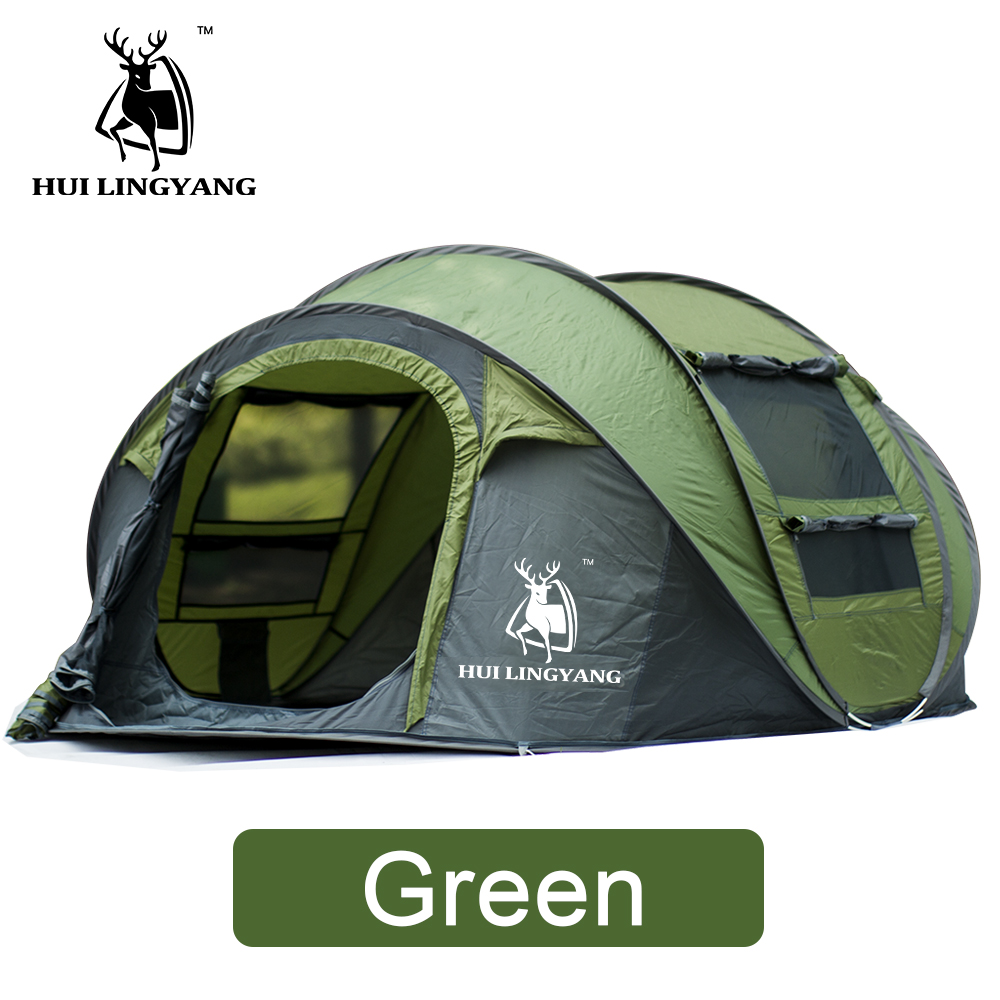 HUILINGYANG Tent Quick Open Automatic Camping Tent 3-4 Persons Outdoor Large Spaces Windproof Camping Picnic Family Tent otomatik çadır