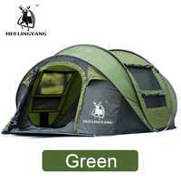 HUILINGYANG Zelt Schnell Öffnen Automatische Camping Zelt 3-4 Personen Im Freien Große Räume Winddicht Camping Picknick Familie Zelt