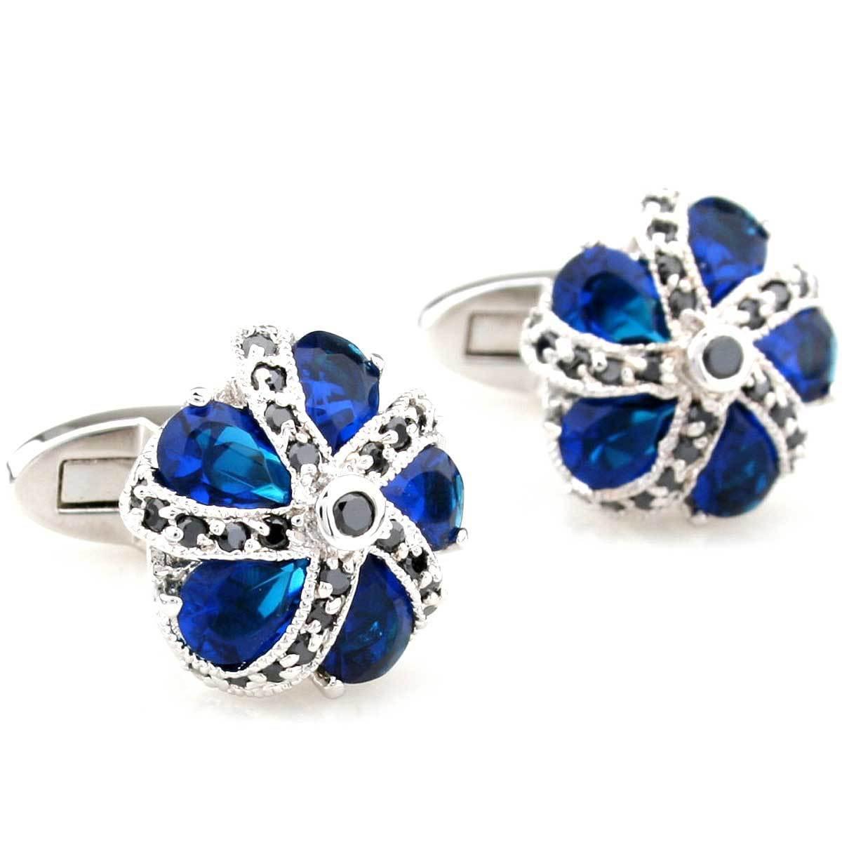 Cufflinks Retail Zircon series male blue black multicolour three-color cufflinks nail sleeve 250021 free shipping+free gift box стоимость