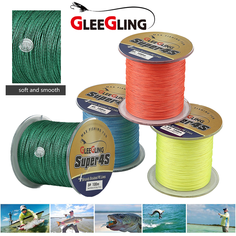 Strong PE Braided Line 4 Stands Multifilament Fishing Line 8-150LB Carp Fish pesca 100M Main Fly Fish Line