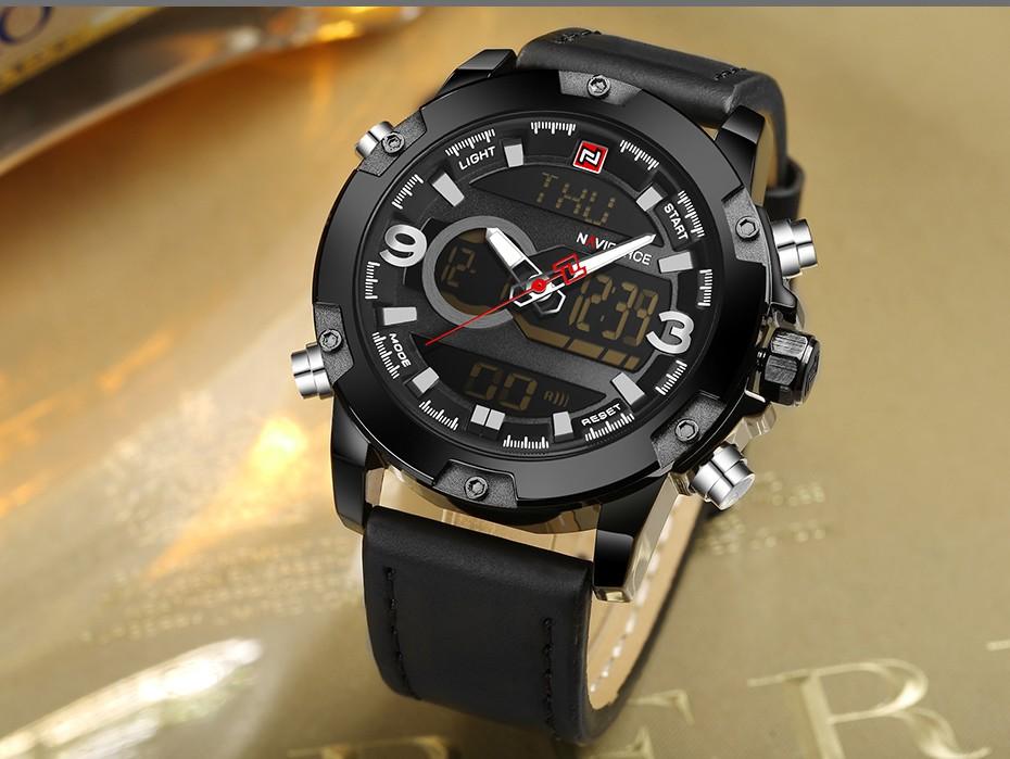 Top Luxury Brand NAVIFORCE Men Sport Watches Men's Quartz LED Analog Clock Man Military Waterproof Wrist Watch relogio masculino 13