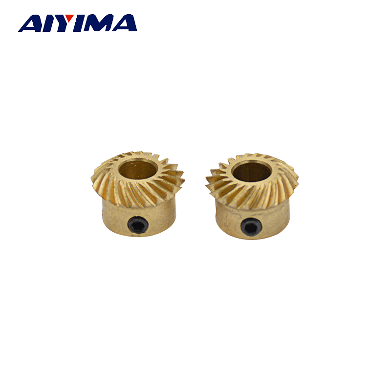 Aiyima 1Pairs 0.6 Modulus 20 Teeth Gear Teeth Spiral Bevel Gears For Violent model Car Modification DIY ft304 31f 138 ft304 31f 131 the mid driving bevel gear and main bevel gear for foton lzt tractor ft304 454 lzt304 lzt454