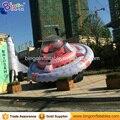 DIA 7M яркая надувная летающая тарелка с принтом  гигантская надувная Летающая НЛО для рекламы  надувные игрушки НЛО для продажи
