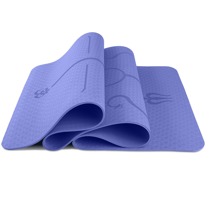 183*61cm TPE Yoga Mat with Position Line Fitness Gymnastics Mats Non-slip Pad