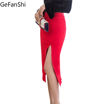 Γυναικεία φούστα με σκίσιμο GeFanShi 2018 5e36cf815f7