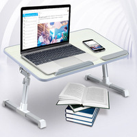 Adjustable Laptop Table with Cooling Fan Portable Standing Bed Desk Foldable Sofa Breakfast Tray for Computer