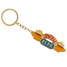 2 Styles TV show Friends Keychain Central Perk Coffee Time Pendant Key Chain Gold Choker Keyring Best friend Gift Jewelry