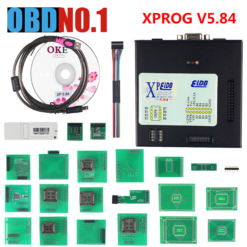 <font><b>XPROG</b></font> V5.84 with USB Dongle ECU Programmer Support Windows 7 64-bi t Remap ECU <font><b>Xprog</b></font> M 5.72 Hot Sale V5.84 ZOLIZDA image
