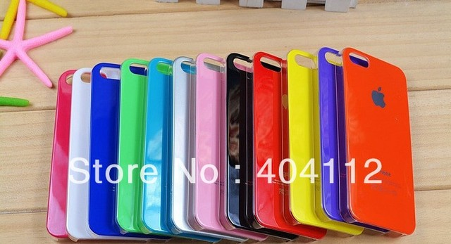 Free shipping!Cheap Price New Good Quality Gilding Hard Case For iPhone 5 5S, A Grade Gilding Case With Logo Printed