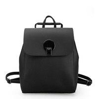 Women Backpack Lock High Quality PU Leather Mochila Multifunction School Bags For Teenagers Girls Backpacks Herald