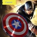 Alta calidad vengadores capitán américa shield usb banco de la energía 6800 mah para iphone 6 s 7 samsung htc huawei xiaomi cargador portátil