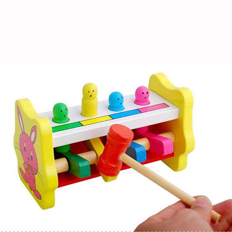 Раннее Образование whac-а-моль deluxe стучать скамейке деревянная игрушка с молотком игрушка b # DROPSHIP 1116