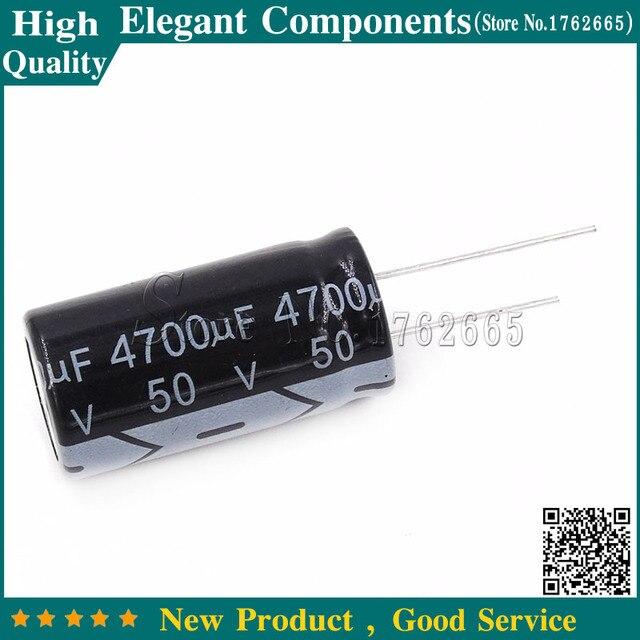 10 قطع 50 فولت 4700 فائق التوهج كهربائيا مكثف 4700 فائق التوهج 50 فولت 50 فولت/4700 فائق التوهج الحجم 18*35 ملليمتر الألمنيوم كهربائيا المكثفات