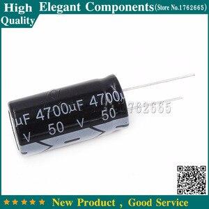 Image 1 - 10ชิ้น50โวลต์4700ยูเอฟE Lectrolytic c apacitor 4700ยูเอฟ50โวลต์50โวลต์/4700ยูเอฟขนาด18*35มิลลิเมตรอลูมิเนียมe lectrolytic c apacitor