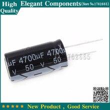 10ピース50ボルト4700 uf電解コンデンサ4700 uf 50ボルト50ボルト/4700 ufサイズ18*35ミリメートルアルミ電解コンデンサ