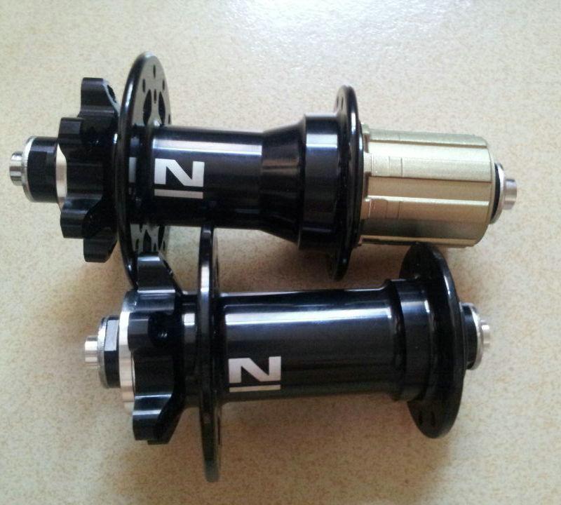 Moyeu de vélo Novatec moyeu de vélo pliant de haute qualité à dégagement rapide 24 trous Novatec noir moyeu vtt 741742
