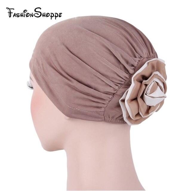 dda4f86094f3 Femmes Musulman Extensible Turban Chapeau Chimio Cap Perte De Cheveux Tête  écharpe Wrap Intérieure Hijib Cap