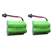 2PCS 6v Battery 2400mah Ni Mh Bateria 6v Nimh Battery Pack 6v Size Aa Rechargeable Ni