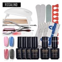 Rosalind Faux Fur Nail Art Tools Cure 6W UV Lamp Gel Polish Soak Off Base Coat Top Coat Gel Nail Nail Manicure Kits Nai