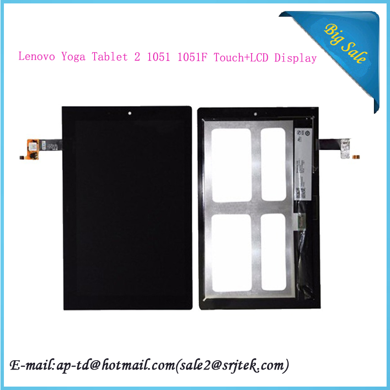 Original 10.1 For Lenovo Yoga Tablet 2 1051 1051F Tablet PC LCD Display Touch Screen Digitizer Assembly Replacement Parts