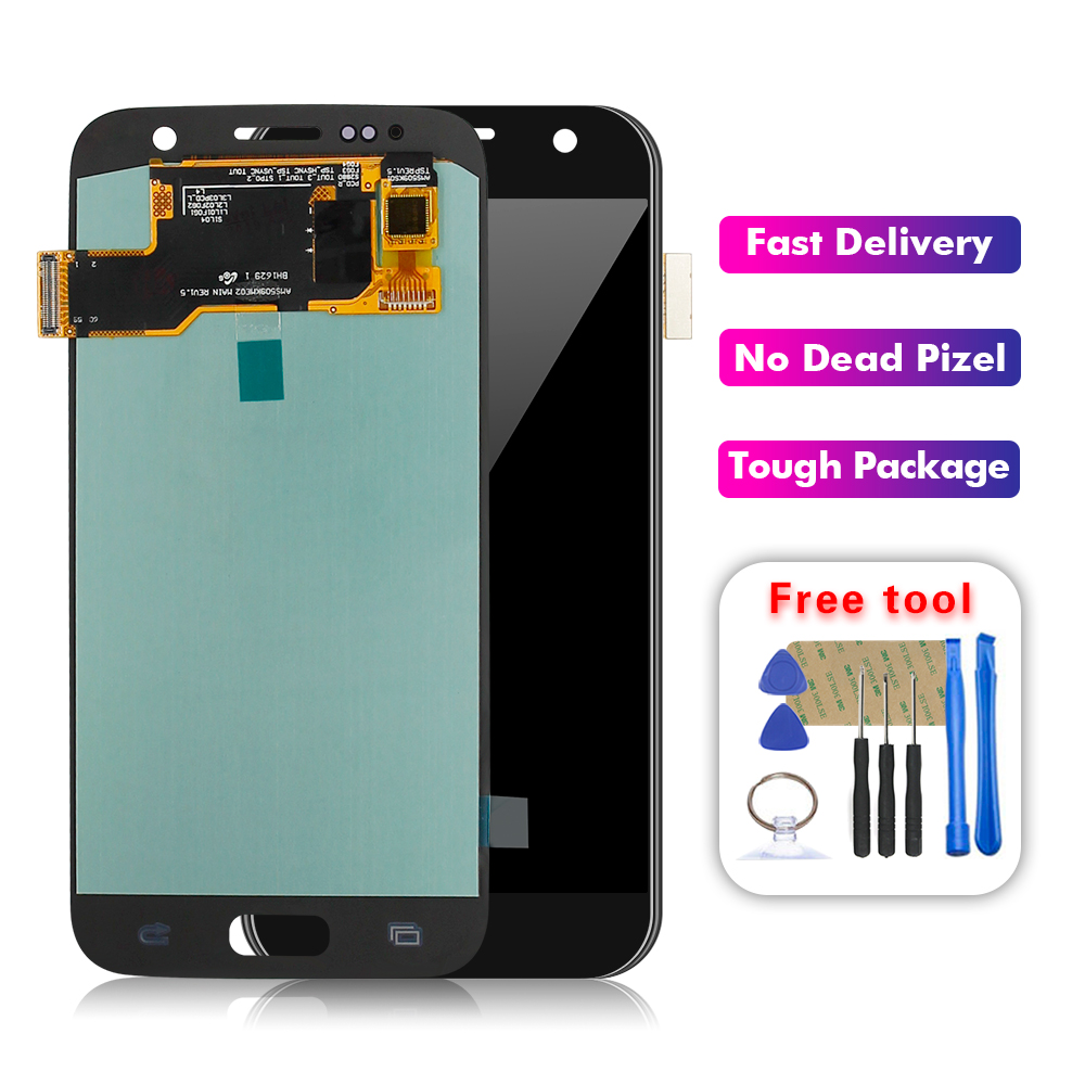 For <font><b>Samsung</b></font> <font><b>Galaxy</b></font> <font><b>S7</b></font> G930 SM-G930P SM-G930V SM-G930A SM-G930T LCD <font><b>Display</b></font> Touch Screen Digitizer Glass Assembly Free Tools image