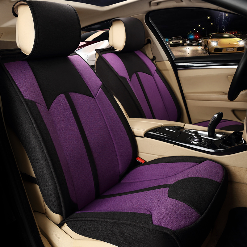 цена на Car Seat Covers Set Universal Car Seat Protector 2 Front Rear Bench Cushion Pad Auto Styling Accessories Automobiles Goods 803